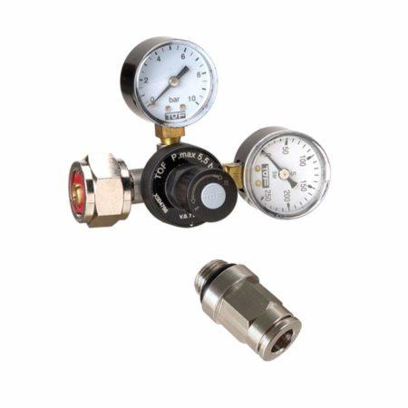 Riduttore di pressione Co2 per bombole ricaricabili doppio manometro